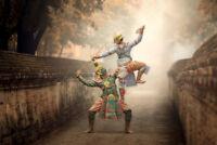 Dancing Masked khon Tos Sa Kan Hanuman Thailand Photo Art Print Poster 18x12 inc