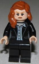 Lego New Lois Lane Black Suit Minifigure Girl 76046 Super Hero Dc Comics