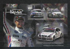 Guernsey 2008 Andy Priaulx/Car Racing ss-Attractive Sports Topical (971) Mnh