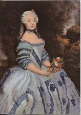 Alte Kunstpostkarte - Antoine Pesne - Die Schauspielerin Babette Cochois