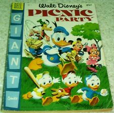 Walt Disney's Picnic Paty 6, (FN- 5.5) 1955 100 page giant!, 50% off Guide