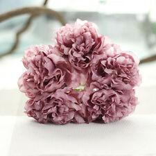 5pcs Artificial Silk Peony Flowers Floral Wedding Bouquet Bridal Hydrangea Bunch