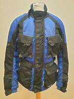R516 MENS WEISE BLUE BLACK ARMOURED TEXTILE MOTORBIKE BIKER JACKET UK M EU 50