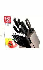 Farberware Kitchen Knife Set Stainless Steel With Self Graphite Block Black