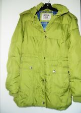 Womens Route 66 Green Puffer Coat Large