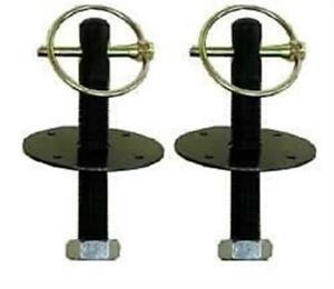 "Black Hood Pin Kit Pins Aluminum 1/2"" IMCA UMP Modified"