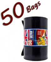 Solide Résistant Poubelle Liner Noir Poubelle Sac De 20 ou 50 Rouleaux épais Poubelle Sacs