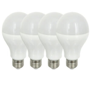 100W Equivalent E27 A21 LED Globe Light Bulb Lamp AC/DC 12-24V 9W Pack of 4 #O