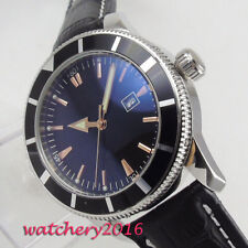 46mm Black Sterile Dial Rotating Bezel Date Automatisch Movement Uhr men's Watch