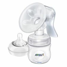 Avent Newborn Baby Breastfeeding Manual Breast Pump With Bottle