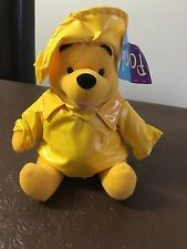 Winnie the Pooh Raincoat soft toy - Part of a collection. Brand new with tags