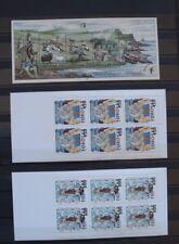 Faroer, kavel met postzegelboekjes en velltetje postfris, leuke koop. zie scan
