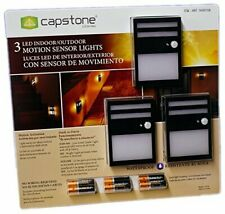Led Indoor/Outdoor Motion Sensor Lights Pack of 3 , Duracell Batteries Included