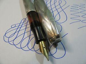 barclay 1302 silver vacuum  fountain pen