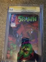SPAWN #1 CGC 9.4 SS SIGNED BY TODD MCFARLANE! 1ST APP SPAWN! MOVIE COMING FAST!!