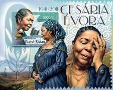Cesaria Evora Music Guinea-Bissau MNH stamp sheet