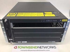 CISCO7604 7600 Series 4-slot Router w/ FAN-MOD-4HS ***Tested/Warranty***