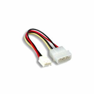"""Kentek 6"""" 4 Pin Molex 5.25 Male To 4 Pin 3.5 Floppy Drive FDD Female Power Cable"""