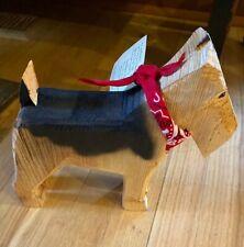 Ponderosa Pine Folk Art Chainsaw Original Carved Dog USA
