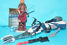STAR WARS CLONE WARS PLO KOON & SPEEDER BIKE LOOSE COMPLETE
