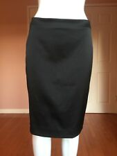 Badgley Mischka Black Satin Pencil Skirt 2