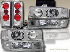 1995-2005 CHEVY ASTRO VAN HEADLIGHTS + BUMPER SIGNAL LIGHTS +TAIL LIGHTS 6PCS