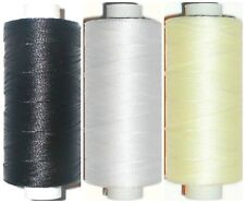 STRONG BONDED NYLON THREAD IPCABOND, 20'S 100MTR SPOOL, BLACK/WHITE/NATURAL