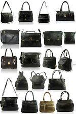 New Women Patchwork Real Leather Shoulder Bag Ladies Across Body Satchel Handbag