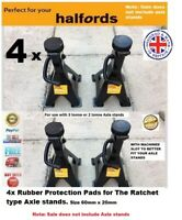 4 x For Halfords Ratchet 2 or 3 tonne Axle Stands Protection Rubber pad classic