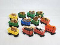 Thomas Friends Wooden Railway Tank Engine Circus Safari Zoo Cars Animals Lot
