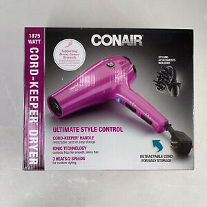 Conair 1875 Watt Turbo Styler Hair Dryer Cord Keeper 209TPR Pink 🔥