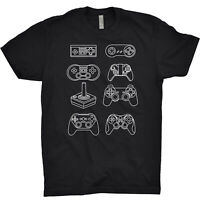 Controlers T Shirt NES SNES Nintendo Play Station Commodore Pegasus Mario Zelda