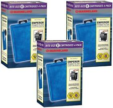 Marineland Emperor Power Filter Cartridge Rite-Size E, 12 Count, Replacement