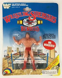 1985 WWF Wrestling Superstars Bendies MR. WONDERFUL 5450 LJN Toys New RARE