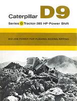 Caterpillar D9G Tractor Sales Brochure 1961