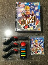 Sony Playstation PS3 BUZZ! Quiz TV with 4 Wireless Remotes + USB Receiver