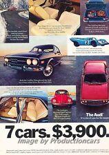 1972 1973 Audi 100LS - Original Advertisement Print Art Car Ad J684