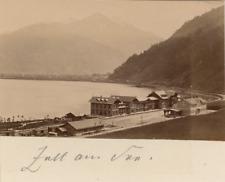 Autriche, Zell am See  Vintage albumen print. Vintage Austria.  Tirage albumin