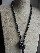 "Fresh Water Pearl Knotted Necklace - Long Wrap Around Style 23"" Assort colours"