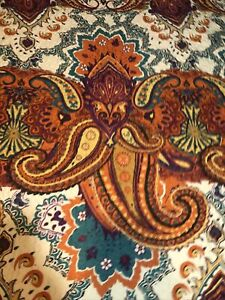 New Greenland Home Boho Chic quilt bedspread with 3 pillow shams purple paisley