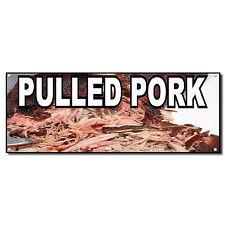 PULLED PORK Food Fair Restaurant Cafe Market Vinyl Banner Sign 2 ft x 4 ft