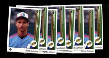 1989 UPPER DECK ROOKIE #25 RANDY JOHNSON RC HOF LOT OF 8 MINT *INV3616