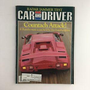 Car and Driver Magazine April 1986 Lamborghini Countach & Radar Jammer Test