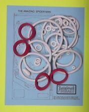 1980 Gottlieb The Amazing Spider Man pinball rubber ring kit