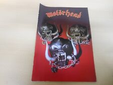 MOTORHEAD Iron Fist Tour Programme + Ticket 26th March 1982