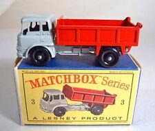 "Matchbox RW 3B Bedford Tipper grau/roter Kipper top in ""D"" Box"