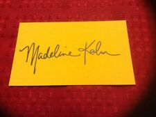 Madeline Kahn 1942-1999 Actress Autographed Orange 3x5 Card Signed Autograph