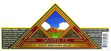 Santa Fe Brewing SANTA FE NUT BROWN ALE paper beer label NM 12oz
