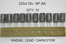 220uf 25v NP (M) Capacitor 85°Non polarized Bipolar Capacitor 10pcs (Part#NP014)