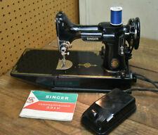 Vintage Singer 221K Featherweight Sewing Machine